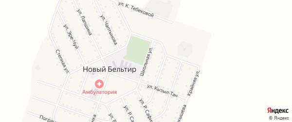 Школьная улица на карте села Нового Бельтира с номерами домов