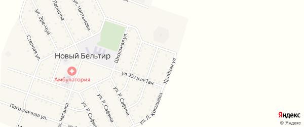 Улица Кызыл-Мааны на карте села Нового Бельтира с номерами домов
