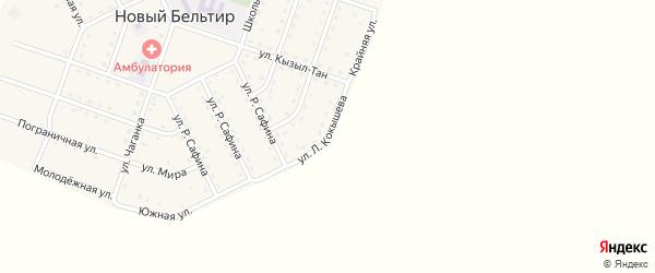 Улица Л.Кокышева на карте села Нового Бельтира с номерами домов