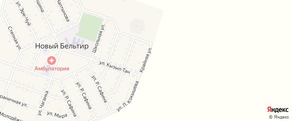 Крайняя улица на карте села Нового Бельтира с номерами домов