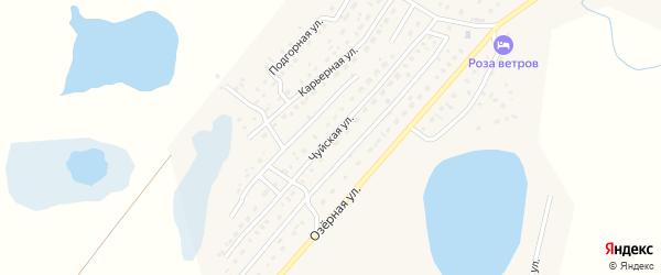 Чуйская улица на карте села Коша-Агача с номерами домов