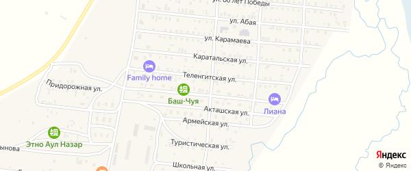 Президентская улица на карте села Коша-Агача с номерами домов