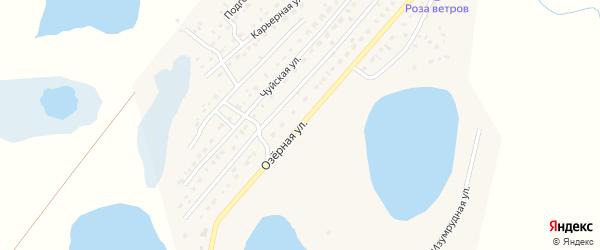 Озерная улица на карте села Коша-Агача с номерами домов