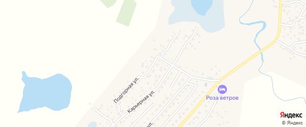 Подгорная улица на карте села Коша-Агача с номерами домов