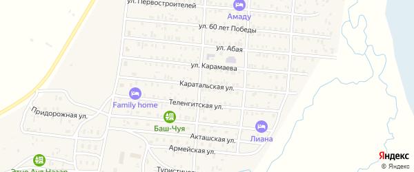 Каратальская улица на карте села Коша-Агача с номерами домов