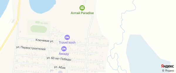 Олимпийская улица на карте села Коша-Агача с номерами домов