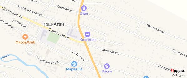 Комсомольская улица на карте села Тобелера с номерами домов