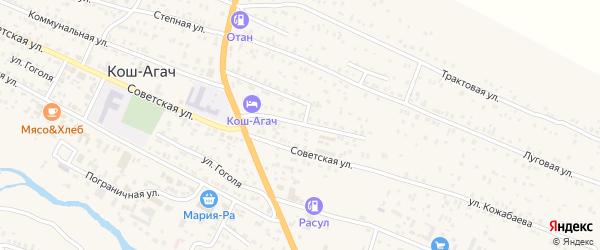 Комсомольская улица на карте села Коша-Агача с номерами домов