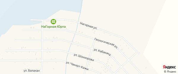 Геологическая улица на карте села Коша-Агача с номерами домов