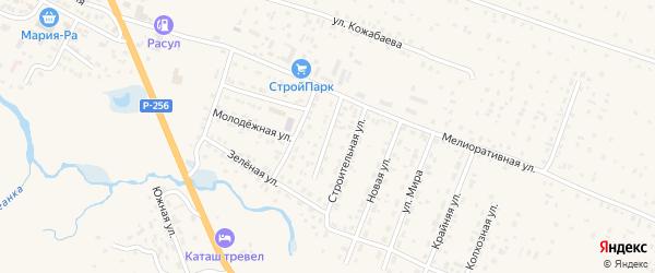 Социалистическая улица на карте села Коша-Агача с номерами домов
