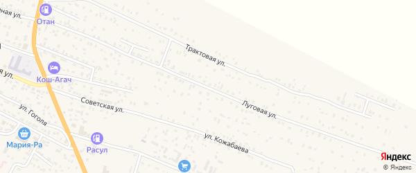 Луговая улица на карте села Коша-Агача с номерами домов