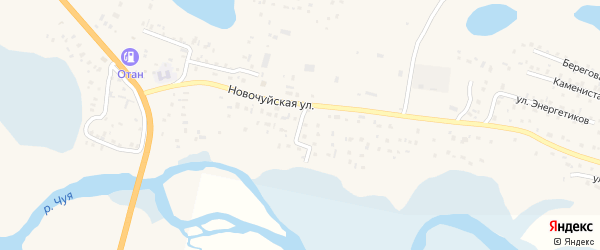 Улица Дружбы на карте села Коша-Агача с номерами домов