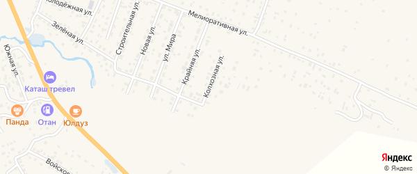 Колхозная улица на карте села Коша-Агача с номерами домов