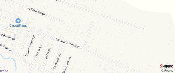 Улица 50 лет Победы на карте села Коша-Агача с номерами домов