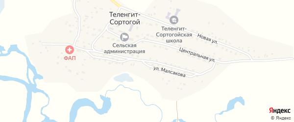 Улица Мурзагулова на карте села Теленгита-Сортогой с номерами домов