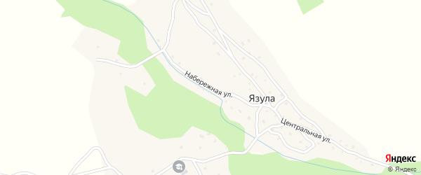 Набережная улица на карте села Язулы с номерами домов