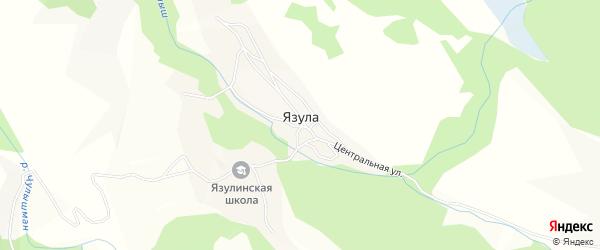 Карта села Язулы в Алтае с улицами и номерами домов
