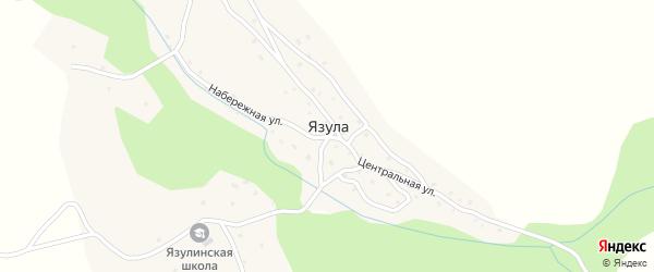 Новая улица на карте села Язулы с номерами домов