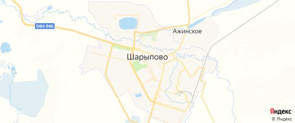 Карта Шарыпово с районами, улицами и номерами домов: Шарыпово на карте России