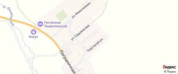 Улица В.И.Чаптынова на карте села Ташанты с номерами домов