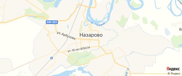 Карта Назарово с районами, улицами и номерами домов