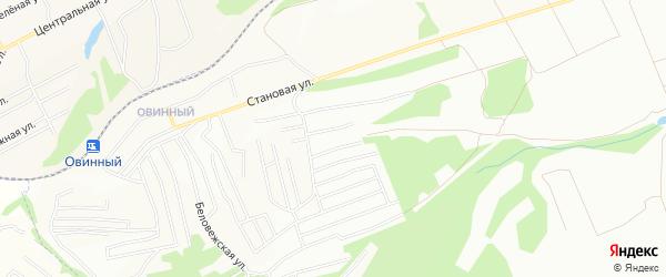Карта Овинного поселка города Красноярска в Красноярском крае с улицами и номерами домов