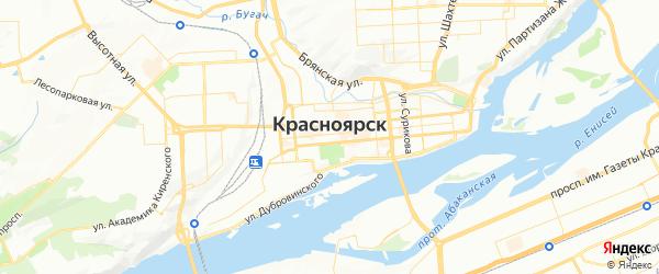 Карта Красноярска с районами, улицами и номерами домов