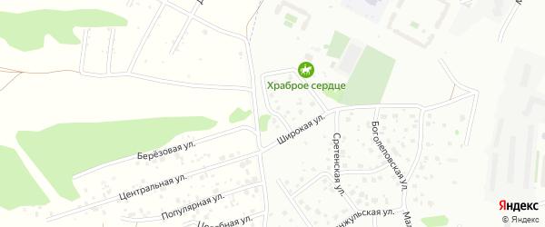 Ручейная улица на карте Красноярска с номерами домов