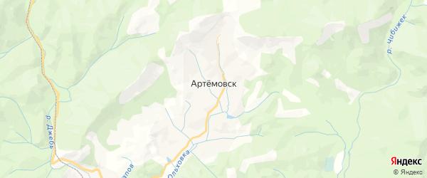 Карта Артемовска с районами, улицами и номерами домов