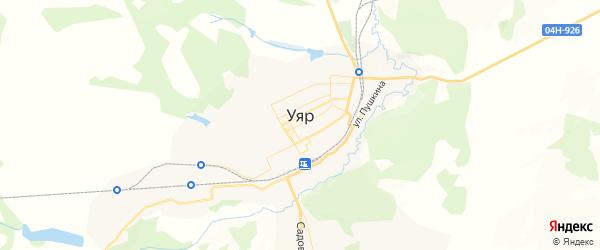 Карта Уяра с районами, улицами и номерами домов