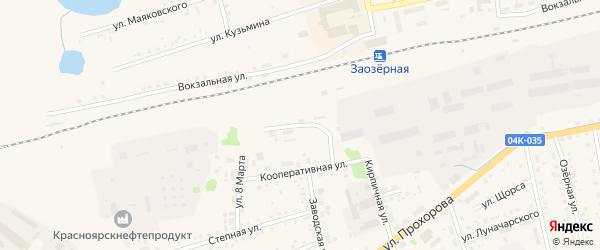 Магистральная улица на карте Заозерного с номерами домов