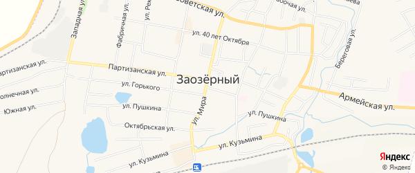 СТ Восход на карте Заозерного с номерами домов