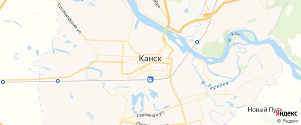 Карта Канска с районами, улицами и номерами домов