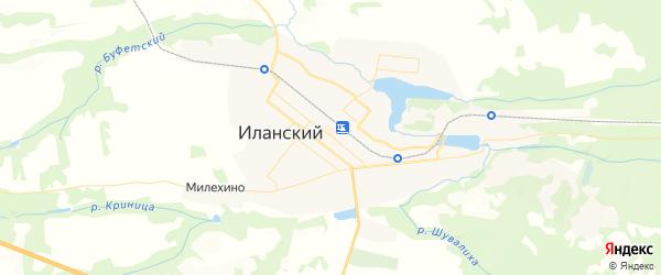 Карта Иланского с районами, улицами и номерами домов