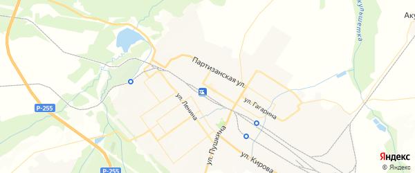 Карта Тайшета с районами, улицами и номерами домов