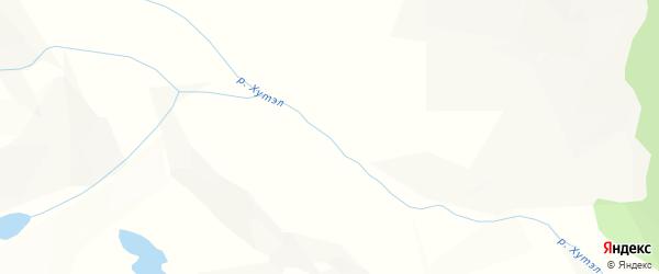 Карта местечка Хутэл в Бурятии с улицами и номерами домов