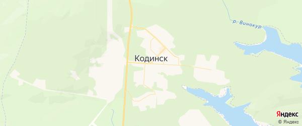 Карта Кодинска с районами, улицами и номерами домов