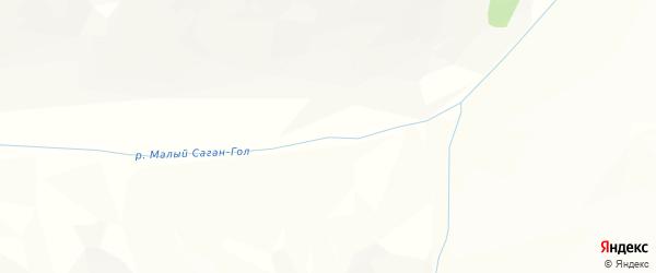 Карта местечка Сагана Гола в Бурятии с улицами и номерами домов