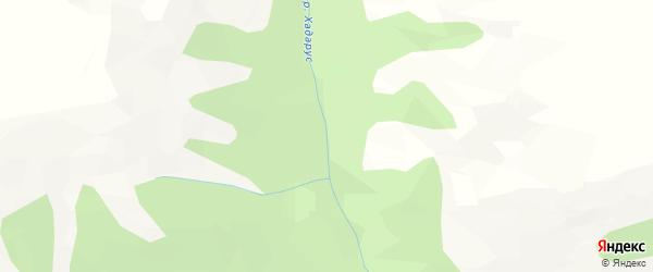 Карта местечка Хадаруса в Бурятии с улицами и номерами домов