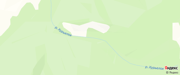 Карта местечка Хойто Хурьелка в Бурятии с улицами и номерами домов
