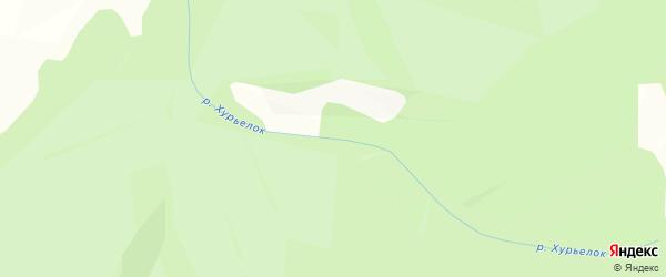 Карта местечка Хурьелка в Бурятии с улицами и номерами домов