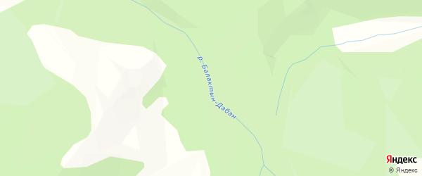 Карта местечка Балактына Амана в Бурятии с улицами и номерами домов