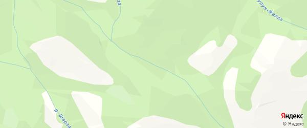 Карта местечка Ташалура в Бурятии с улицами и номерами домов