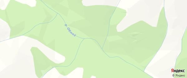 Карта местечка Обтоя в Бурятии с улицами и номерами домов