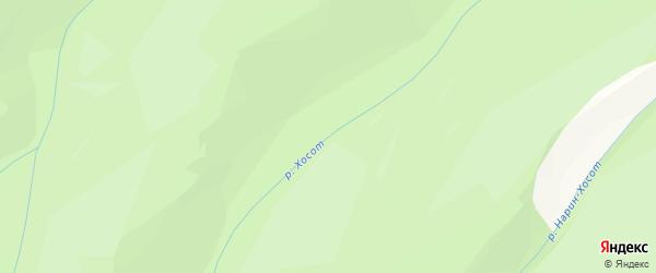 Карта местечка Хосота в Бурятии с улицами и номерами домов