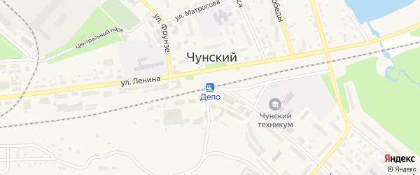 Улица Пожарное Депо на карте Улан-Удэ с номерами домов