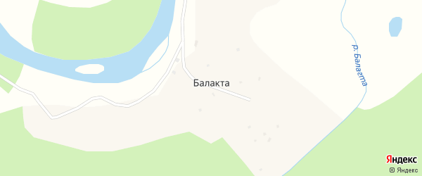 Центральная улица на карте улуса Балакта с номерами домов