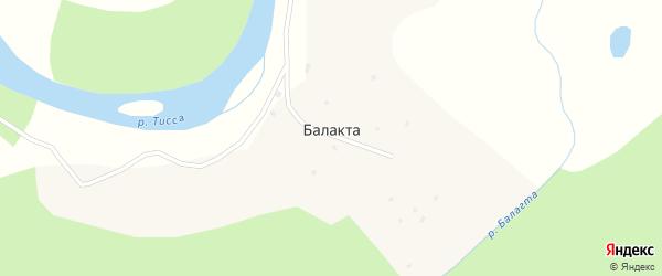 Набережная улица на карте улуса Балакта с номерами домов