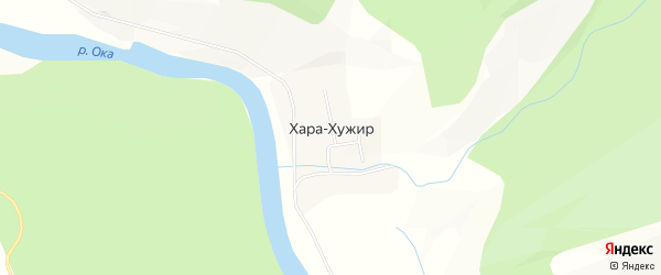Карта улуса Хара-Хужир в Бурятии с улицами и номерами домов
