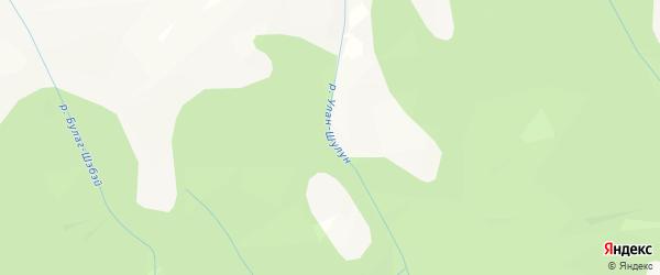 Карта местечка Улэн в Бурятии с улицами и номерами домов